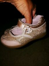"""Stride Rite """" Cassidy"""" Toddler Girl Sz. 7.5 Gold Sparkle Mj Shoe. Cute, Nt...."""