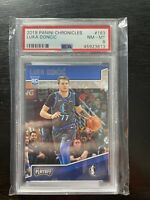 2018 Panini Chronicles Playoff #183 Luka Doncic PSA 8 NM-MT Rookie Card RC