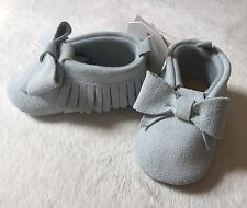 Baby Gap Girl Suede Moccasins 3-6 Months Stillwater New With Tags