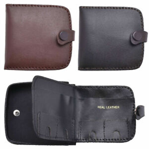 Mens Genuine Leather Wallet for Coins Tray Purse Style with Note Section £1 Coin