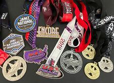 Cheerleading Dance Cheer Medal Awards 10 Pc Lot US Finals Encore nationals Jamz