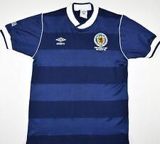1986 SCOTLAND MEXICO 86 UMBRO HOME FOOTBALL SHIRT (SIZE S)