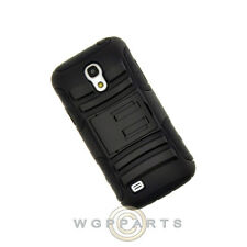 Samsung Galaxy S4 Mini Hybrid H Case with Stand Black Case Cover Shell Guard