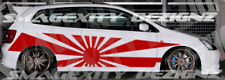 Custom Design Decal Graphic Vinyl REFLECTIVE Ep3 Type R RISING SUN Civic Vtec si