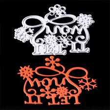 let it snow metal cutting die scrapbooking photo album embossing stencilcraft Es
