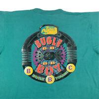 VTG 90s Bugle Boy Built Tough Graphic T-Shirt Mens XL X-Large Single Stitch