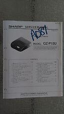 Sharp gz-p15u service manual original repair book color video printer