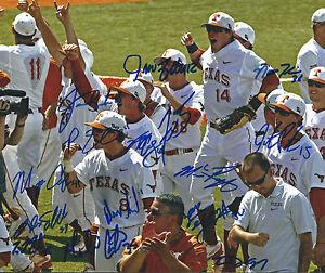 Texas Longhorns baseball Signed/Autographed 2014 CWS Omaha RARE COA LOOK!!