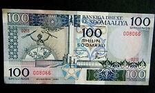 ★★ SOMALIE ● RADAR VARIETE ● BILLET DE 100 SHILLINGS 1989 ● SUP++ ★★