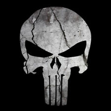 Punisher Skull Cracked Rock Stone Sticker Decal Sniper Made In Usa
