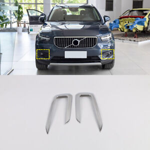 For Volvo XC40 2018-2020 ABS Chrome Front Fog Light Lamp Cover Trim Accessories