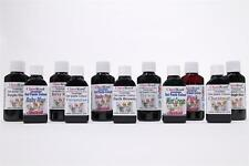 Classikool 30ml Gel Food Colouring Set: NIGHT: midnight black, grey, navy blue