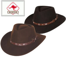 Scippis AUSTRALIEN Cowboyhut Outdoorhut Hut Wollfilzhut Hüte Herren wetterfest