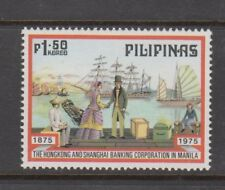 Philippine Stamps 1975 Hong Kong & Shanghai Bank in Manila (Painting) Complete s