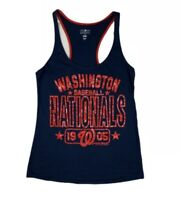 Washington Nationals Women's Medium Baseball Tank Top T Shirt Tee Blue Red