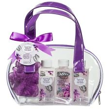 Bathroom Spa Gift Basket for Women: Detoxifying Purple Basil Flower Kale Splash