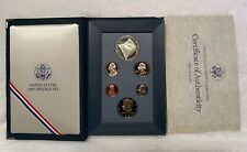 1987 S US Mint Prestige Proof Set with Constitution Silver Dollar. 6 coins