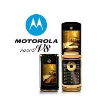 Phone Mobile Phone Motorola RAZR2 V8 Gold 2GB Bluetooth Camera Luxury