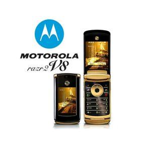 Phone Mobile Phone Motorola RAZR2 V8 Luxury Gold 2GB Gsm Top Quality