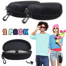 2 Zipper Hook Hang Eye Glasses Sunglasses Hard Case Storage Box Holder Protector