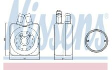 NISSENS Radiador de aceite motor 90606