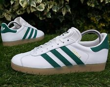 BNWB & Genuine adidas originals Gazelle Vintage White Green Trainers UK Size 10