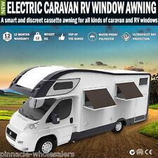 New Electric Caravan Rv Window Awning Remote 2m Wide Italian Designed Wereda
