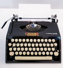 Vintage Adler Tippa S Portable Typewriter with Case - Works with minor issues
