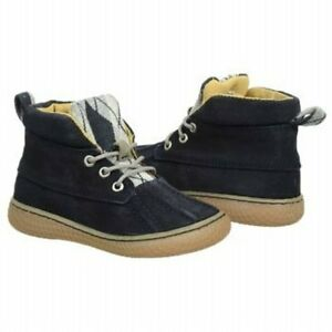 NIB LIVIE & LUCA Shoes Boots Gordon Navy Blue Suede Leather 12