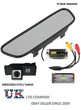 reverse parking camera kit rear view mirror monitor for mercedes vito viano