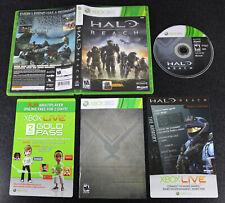 Xbox 360 Halo: Reach caso Manual + Juego completo de disco descargar casco espartano