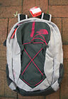 THE NORTH FACE  WOMENS JESTER BACKPACK- LAPTOP SLEEVE-CHJ3- QUAIL GREY H/ PINK