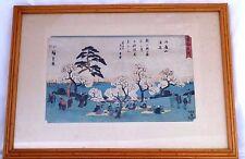 ANDO HIROSHIGE (1797-1858) Antique,Original,Signed Japanese Woodblock Print.1930
