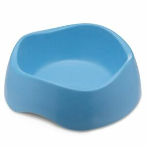 Beco Bamboo Dog Food & Water Bowl, Non-Slip and Easy Clean, Medium, Blue, 750 ml