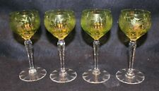 BOHEMIAN NACHTMANN SET OF 4 CHARTREUSE PORT WINES