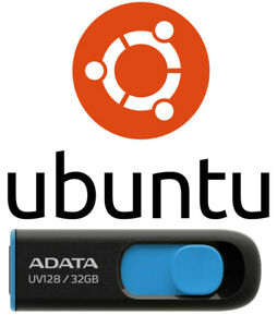 Ubuntu Linux 20.04.2 Focal Fossa 64 Bt 32 Gb USB 3.2 Drive Bootable Live Install