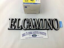 1978-1987 Chevrolet El Camino Rear Quarter Panel EL CAMINO EMBLEM new OEM