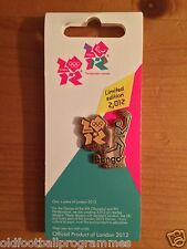 *OLYMPIC TORCH RELAY (BANGOR) PIN BADGE (28.05.2012) (OFFICIAL PRODUCT)*