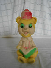 Vintage rubber Reliance squeaky  toy bear Taiwan  *