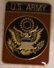 Hat Lapel Push Tie Tac Pin Army Emblem NEW brown