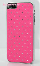 for iphone 5 5S silver hot pink sparkly diamond luxury hard back case plus gift