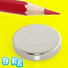 Magneti 6 DISCHI 25x5 mm calamite NEODIMIO super magnete forza di attrazione 9Kg