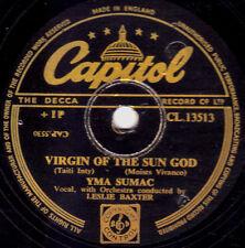"""RARE YMA SUMAC ETHNIC FOLK 78 """" VIRGIN OF THE SUN GOD """" UK CAPITOL CL 13766 EX+!"""