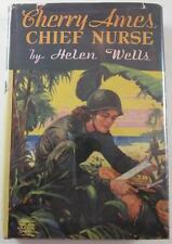 CHERRY AMES #4  CHIEF NURSE HELEN WELLS 1943 G&D FIRST EDITION HARDCOVER DJ