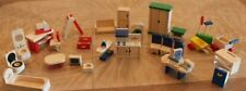 New ListingWooden Doug Melissa & Plan Toys Dollhouse Furniture Bed Kitchen Living Room Lot