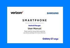 """Samsung Galaxy """"S7 edge"""" User Manual (Android Nougat, Verizon model SM-G935V)"""