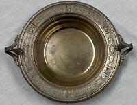 Antique Dresden 59c4? P.N.S Silver Plated Bon Bon Handled Bowl Dish