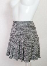 GOLDIE stretch Grey short mini pleated flare skater skirt S 10 W31