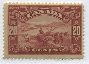 Canada KGV 1929 20 cents Scroll Harvester mint o.g. hinged