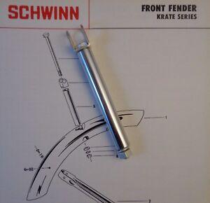 SCHWINN BICYCLE KRATE STINGRAY FRONT FENDER HANGER KIT 1969-73 Sting-ray Bikes